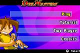Duel Masters: Shadow of the Code Game Boy Advance Main menu