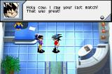 Duel Masters: Shadow of the Code Game Boy Advance Talking to an opponent outside the arena.