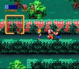 Zombies Ate My Neighbors SNES Zeke uses the clown power-up to block the path, it will temporarily stop the chainsaw wielding maniac