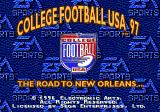 College Football USA 97 Genesis Title screen