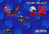 College Football USA 97 Genesis Select a team.