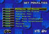 College Football USA 97 Genesis Set the level of the penalties.