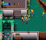 Zombies Ate My Neighbors SNES Zeke attacks his clones with the garden trimmer