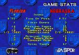 College Football USA 97 Genesis Game stats
