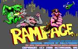 Rampage DOS Title screen (EGA/Tandy)