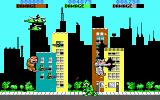 Rampage DOS Starting a new game with three players (EGA/Tandy)