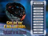 Galactic Civilizations II: Twilight of the Arnor Windows Main Menu