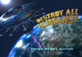 Destroy All Humans! PlayStation 2 Title screen