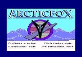 Arcticfox Amstrad CPC Title screen and main menu