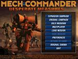 Mech Commander: Gold Windows Main menu