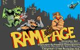Rampage Amiga Title screen