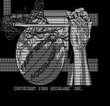 Fast Break DOS Title screen (Hercules Monochrome)