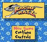 Racin' Ratz Game Boy Color Title screen and main menu