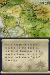 Dungeon Explorer: Warriors of Ancient Arts Nintendo DS More intro -map of the world