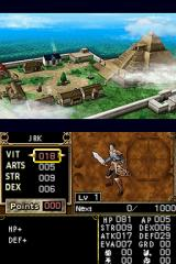 Dungeon Explorer: Warriors of Ancient Arts Nintendo DS Distribute starting points