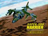 Super-VGA Harrier DOS SVGA: title screen