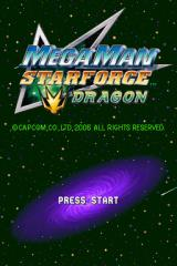 Mega Man Star Force: Dragon Nintendo DS Title screen