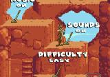 Desert Demolition Starring Road Runner and  Wile E. Coyote Genesis Nice options menu
