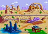 Desert Demolition Starring Road Runner and  Wile E. Coyote Genesis Area overview