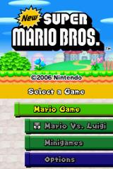 New Super Mario Bros. Nintendo DS Title Screen