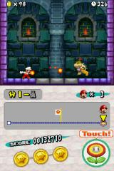 New Super Mario Bros. Nintendo DS Fighting Bowser Jr. at the tower is reminiscent of Super Mario World.