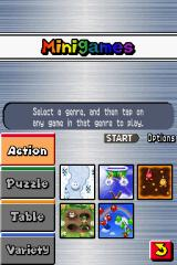 New Super Mario Bros. Nintendo DS In addition to the adventure mode, several minigames are available.
