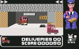 Postman Pat Commodore 64 Driving in van from garage to the streets