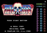 Truxton Genesis Title screen