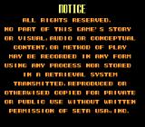 F1-ROC II: Race of Champions SNES Notice screen ... I wonder if posting screenshots is okay with SETA