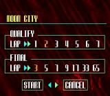 F1-ROC II: Race of Champions SNES Choose the number of laps