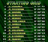 F1-ROC II: Race of Champions SNES Starting grid