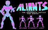 Aliants: The Desperate Battle For Earth! DOS Title screen