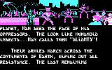 Aliants: The Desperate Battle For Earth! DOS Part of the introductory story