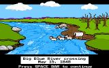 The Oregon Trail DOS River crossing is treacherous without help