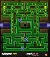 Mario Bros. in Pipe Panic Browser Taking out a ghost plant.
