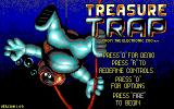 Treasure Trap DOS Start menu (EGA)