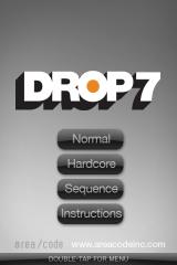 Drop7 iPhone Title screen
