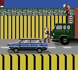Shinobi Game Gear Standing on a car in the highway level