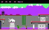 Bruce Lee DOS Fighting a green guy (CGA composite mode).