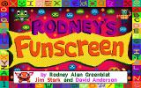 Rodney's Funscreen DOS Title screen