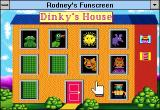 Rodney's Funscreen Windows 3.x Dinky's house