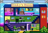 Rodney's Funscreen Windows 3.x Dinky's house interior