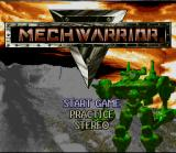 MechWarrior SNES Title Screen