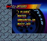 Kyle Petty's No Fear Racing SNES Options