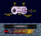 Kyle Petty's No Fear Racing SNES Controls available when making a custom track