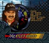 Kyle Petty's No Fear Racing SNES A Kyle quote
