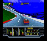 Kyle Petty's No Fear Racing SNES Coming into a turn