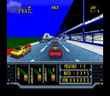 Kyle Petty's No Fear Racing SNES A race begins