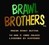 Brawl Brothers SNES Title Screen