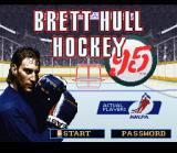 Brett Hull Hockey 95 SNES Title Screen